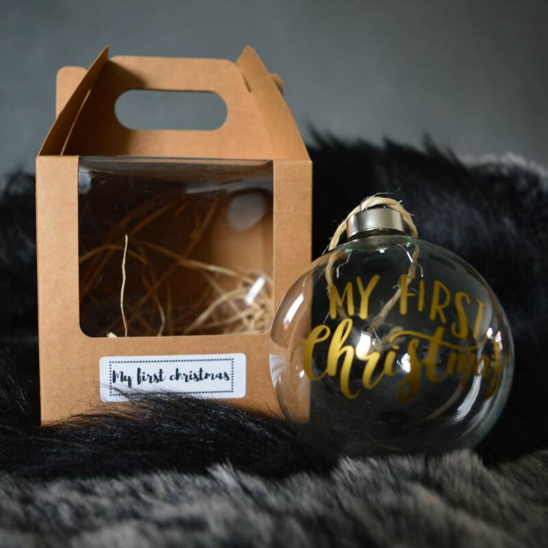 Kerstbal (glas) * My first christmas  *