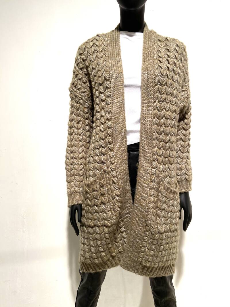 LOLA! KNITTED LONG CARDIGAN