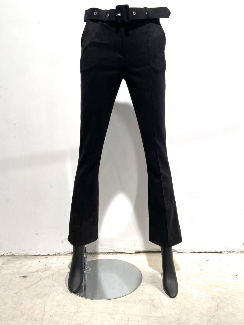 LOLA! FAUX SUEDE PANTS WITH BELT
