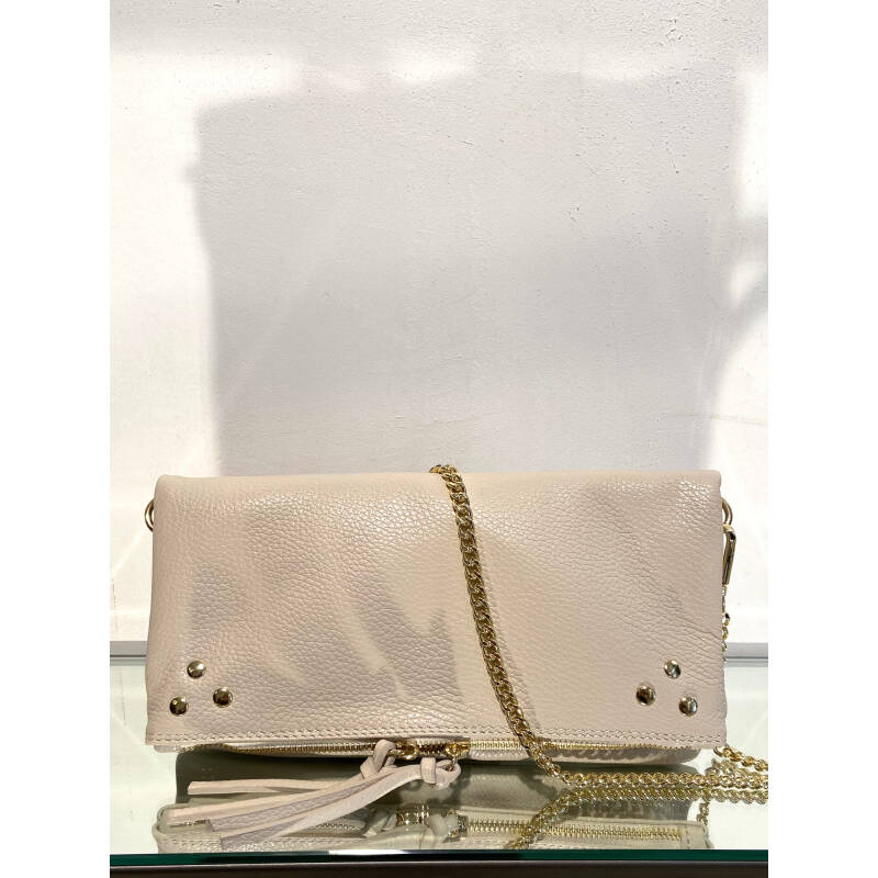 LOLA LEATHER HANDBAG OFF-WHITE