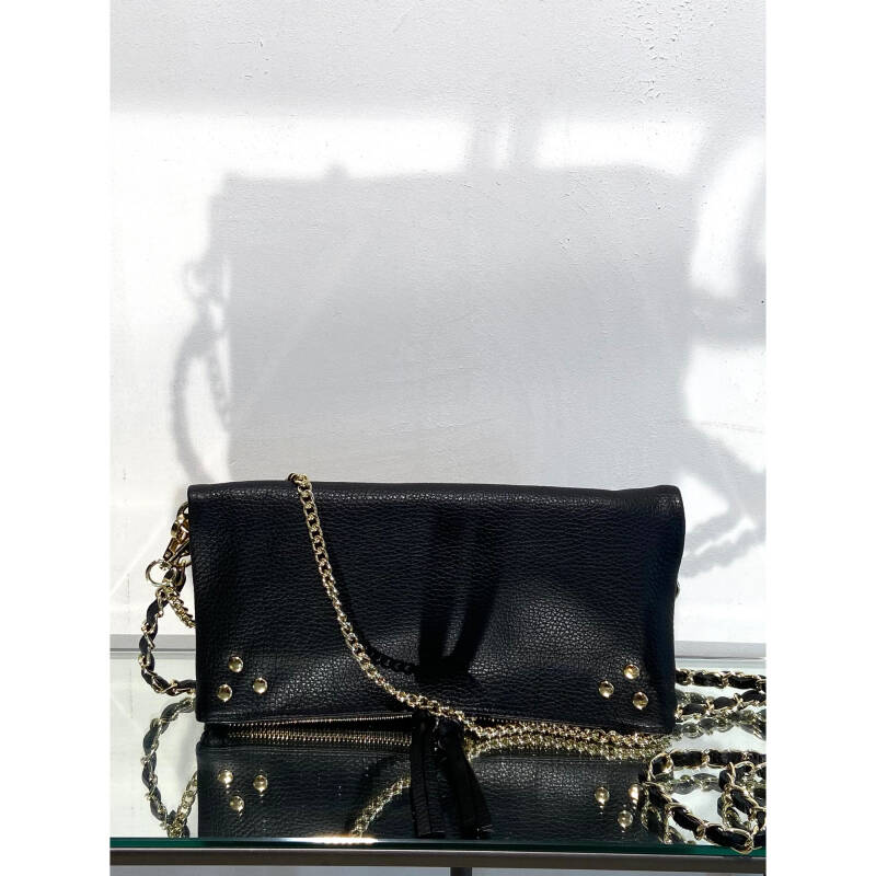 LOLA LEATHER HANDBAG BLACK
