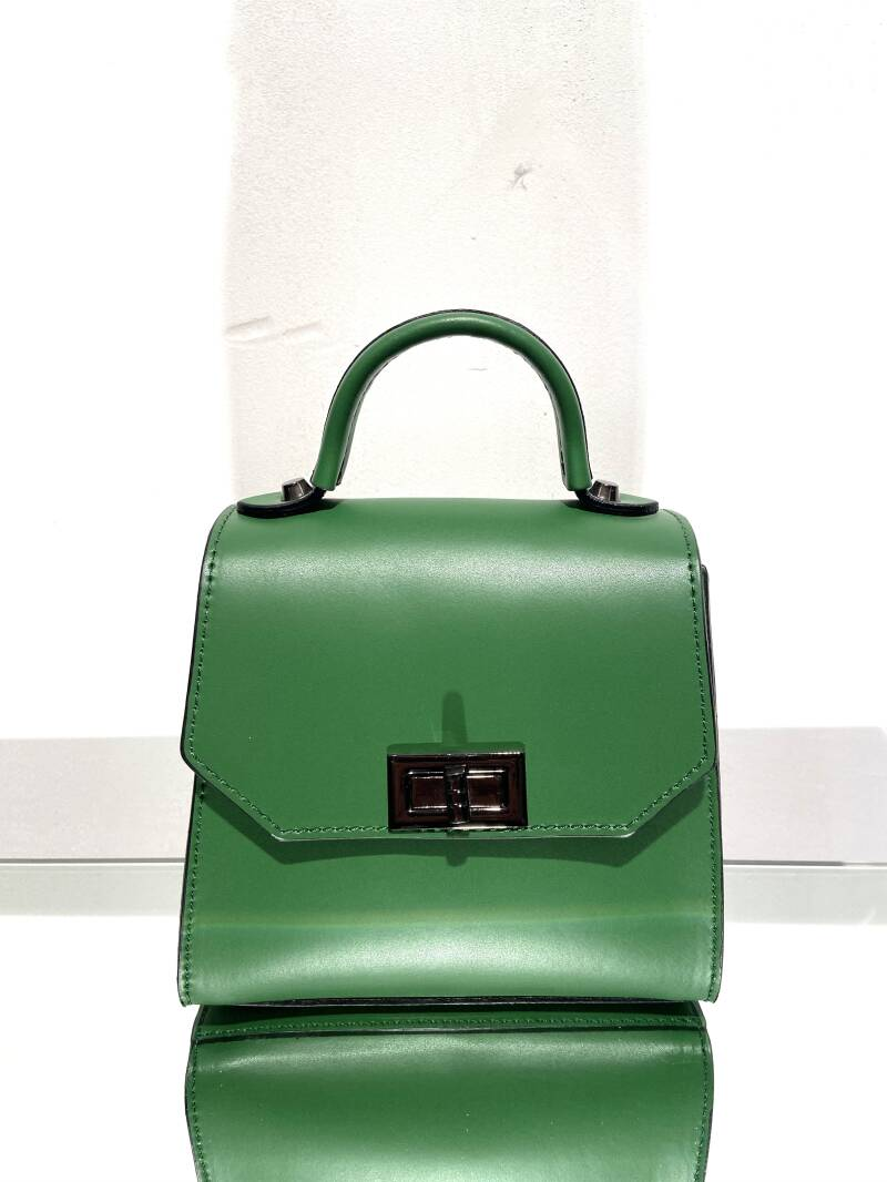LOLA! LEATHER SMALL GREEN BAG