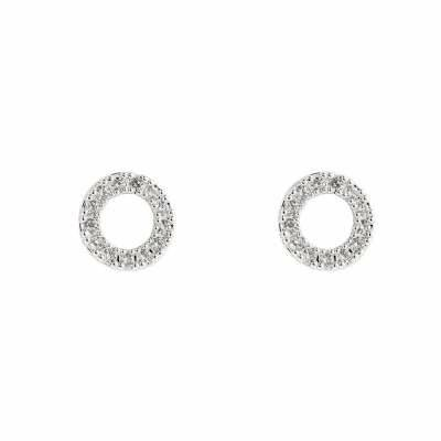 Shining Ring Plated Earring Color Edition