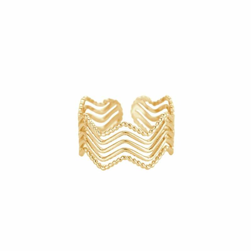 5-Layer Wave Ring