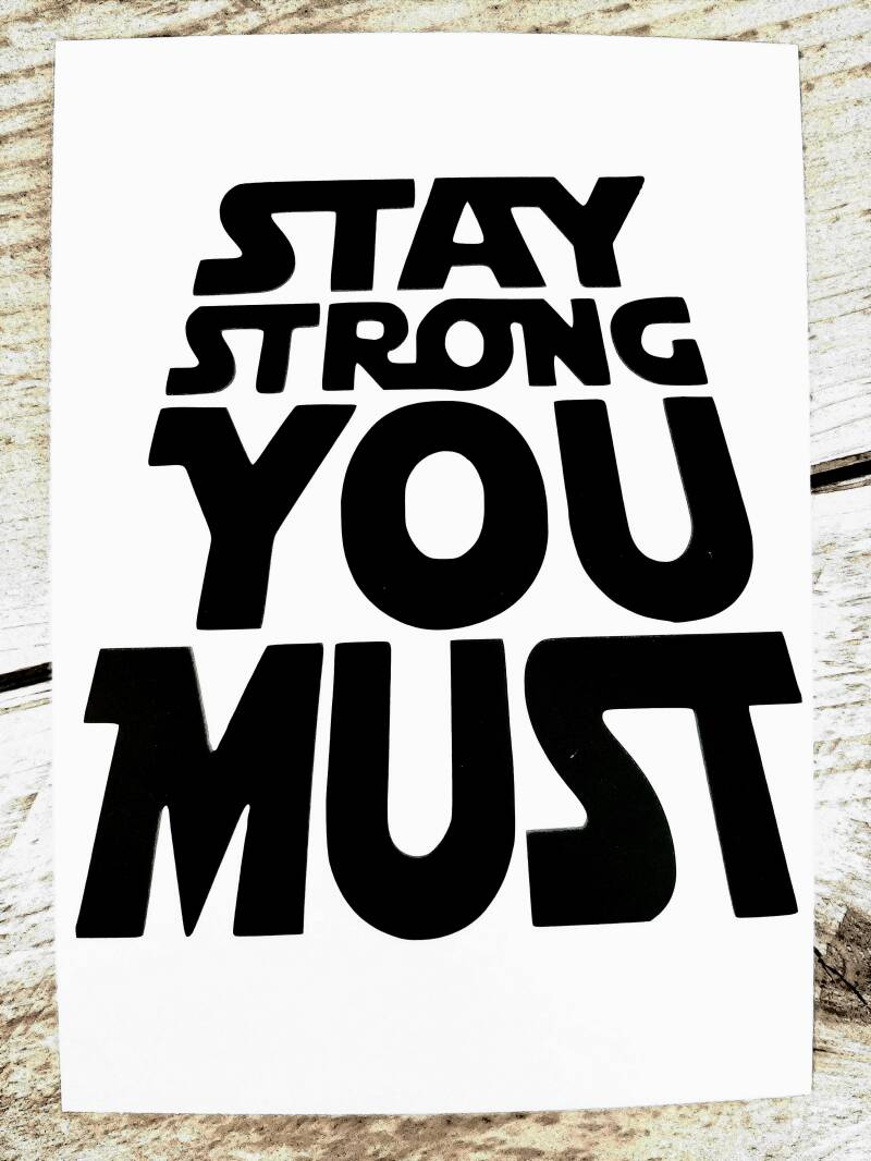 Kaart Stay strong