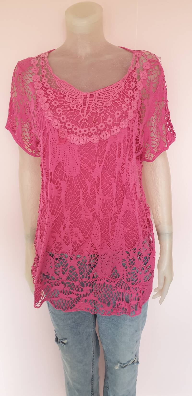 Rose kanten 2 delig top- one size t/m 42