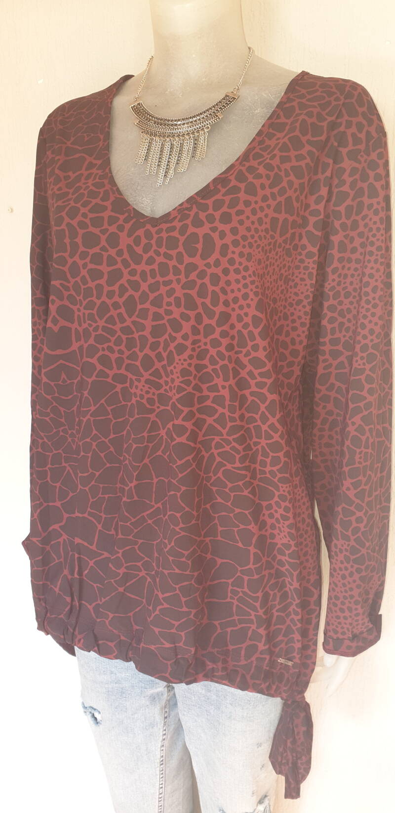 Bordeaux rood top - xl (42)
