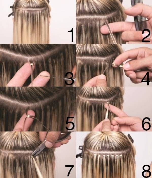 Hairextensions microring training.