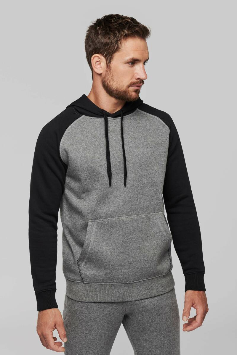Sweater hooded two-tone adult 8804