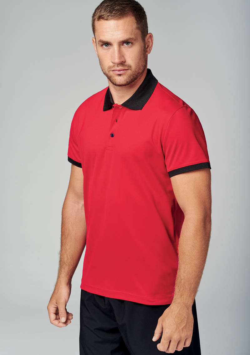 Pique knit polo (cool plus©) men