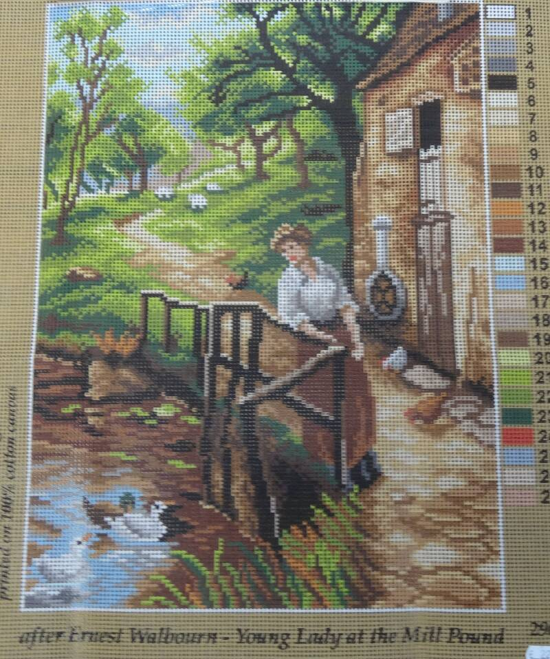 Young lady at the mill