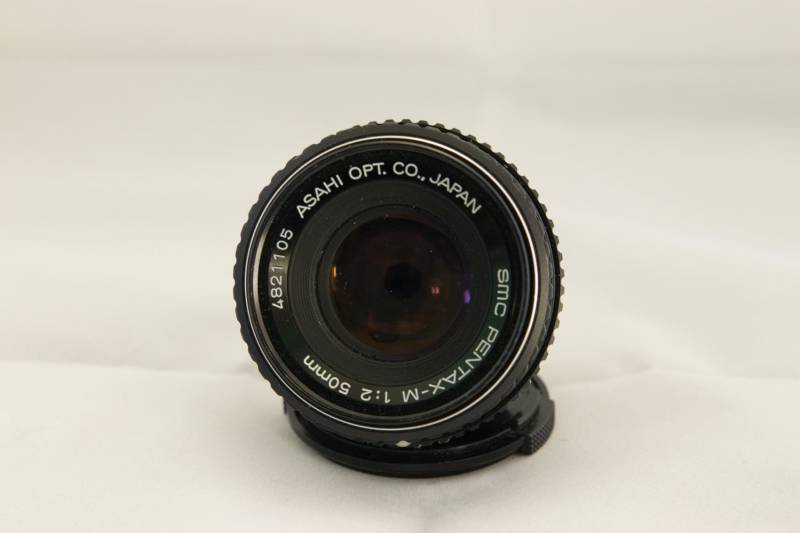 Pentax 50mm f2-f22 k mount + adapter naar Canon .