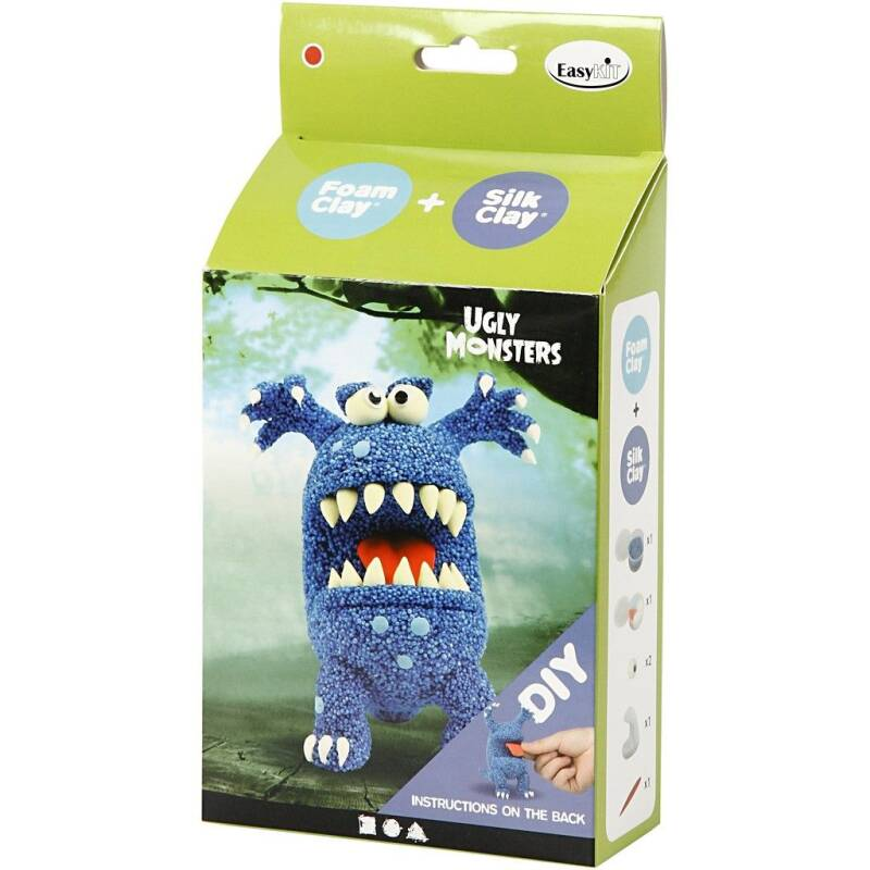 Funny Friends - Blauw monster 100615 (Creotime)