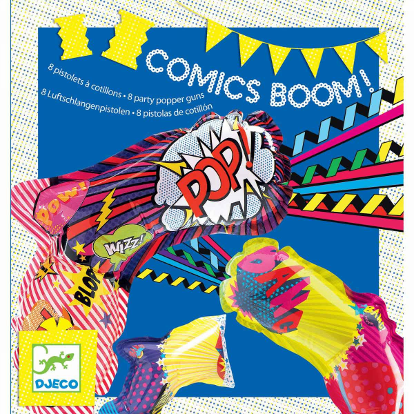 Comics Boom - 8 party pistolen DJ02090 (Djeco)