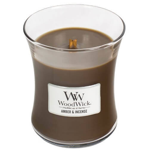 WoodWick Medium - Amber & Incense