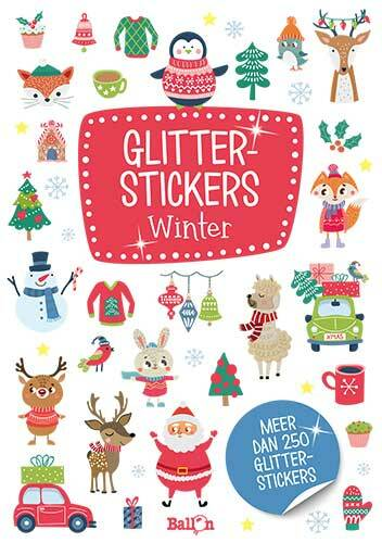 Glitterstickers - Winter 3+
