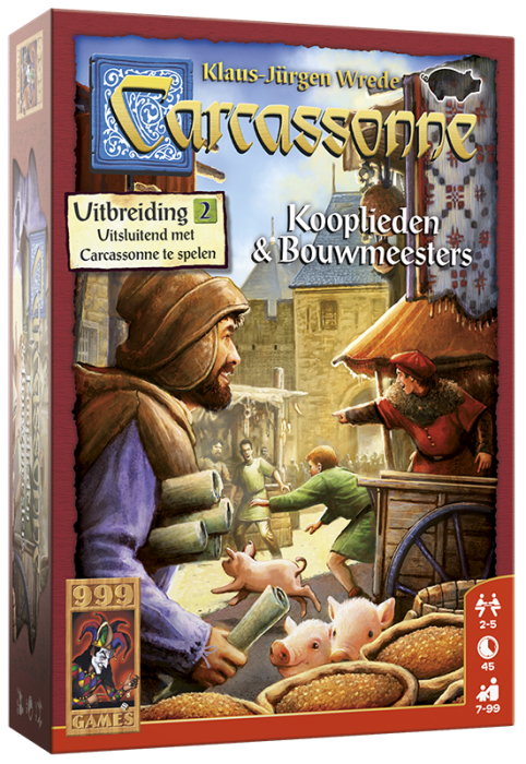 Carcassonne - Uitbr.2: Kooplieden & Bouwmeesters 999-CAR04N (999 Games) 7+
