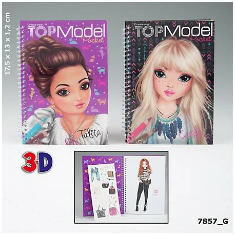 Pocketkleurboek 3D 7857 (Top Model)