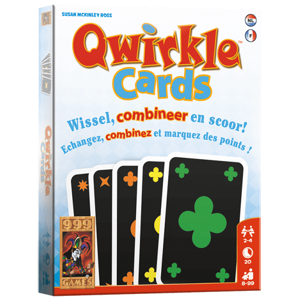Qwirkle - Cards 999-QWI04 (999 Games) 8+
