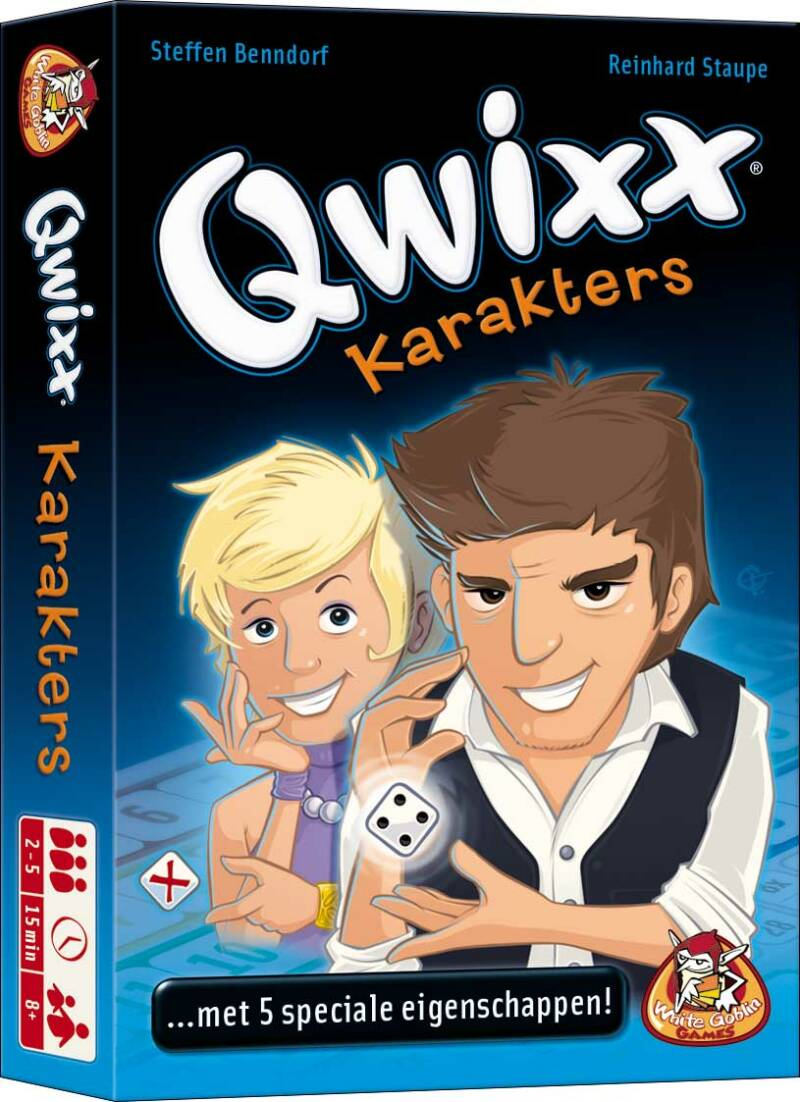 Qwixx - Uitbr.: Karakters NLWGG1813 (White Goblin Games) 8+