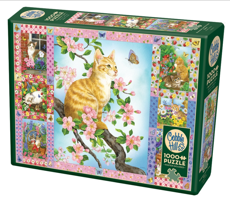 Blossoms and kittens quilt 1000pcs 5880272 (Cobble Hill)
