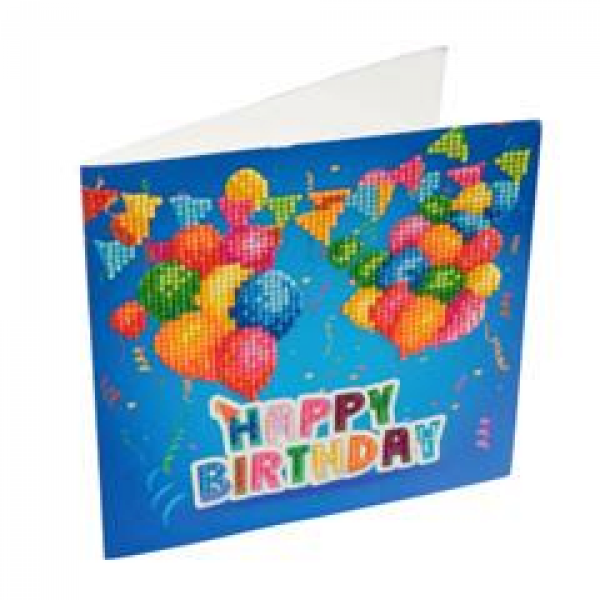 Happy Birthday - Balloons (Crystal Card Kit)
