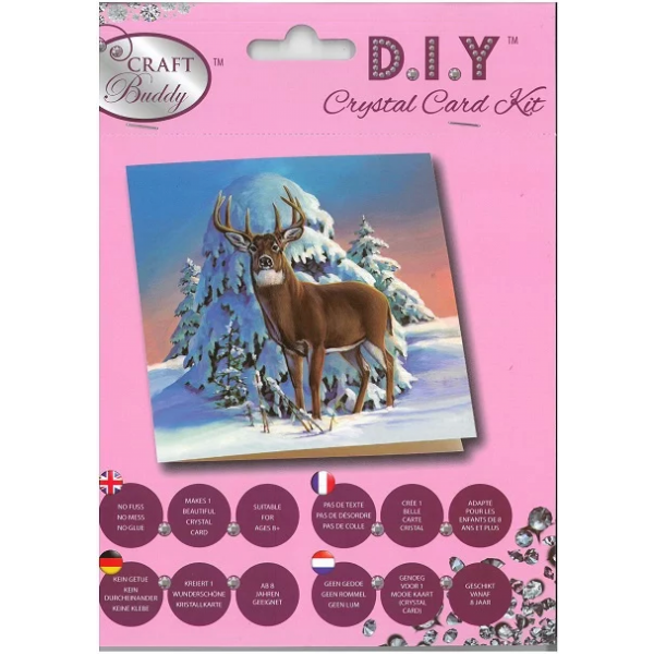 Winter stag (Crystal Card Kit)