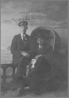 Albertus Vogelzang # 15, as shipmate on Lemmer boat. About 1925.