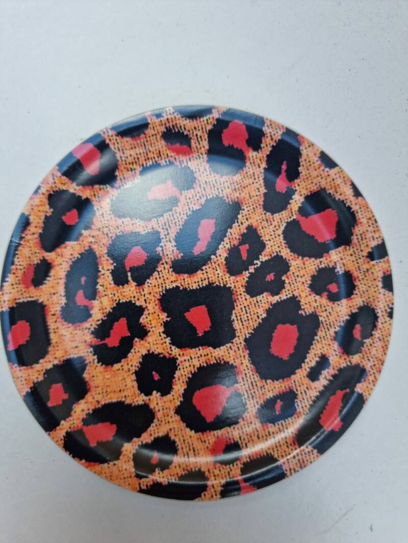 Les Ottomans wooden tray panter rond