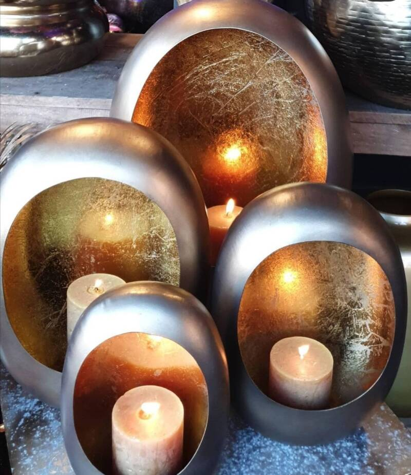 Egg candle Goud!
