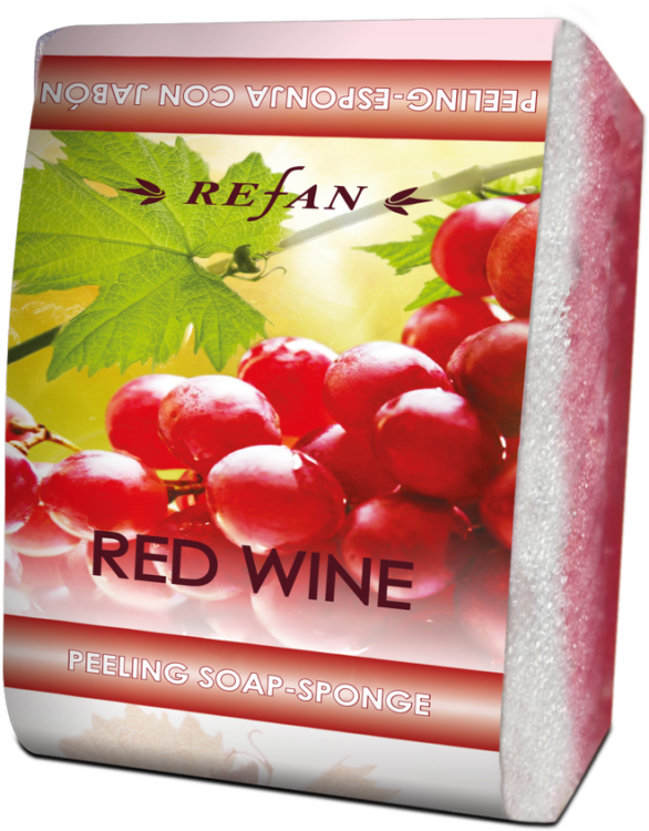 peeling soap sponge red wine 75 g