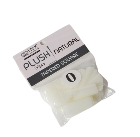 Plush Tips Refill Tapered Square Natural 0
