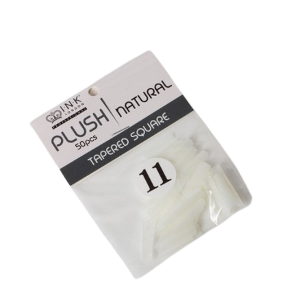Plush Tips Refill Tapered Square Natural 11