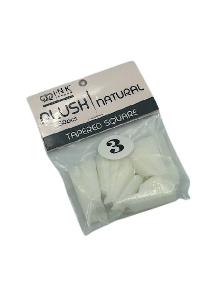 Plush Tips Refill Tapered Square Natural 3