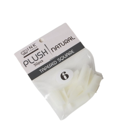 Plush Tips Refill Tapered Square Natural 6