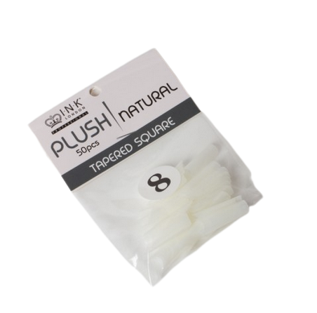 Plush Tips Refill Tapered Square Natural 8