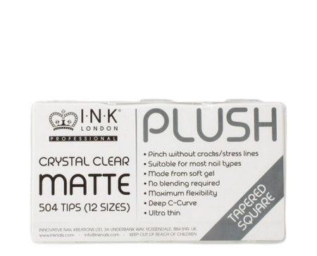 Plush Tips Tapered Square Crystal Clear Matte Box