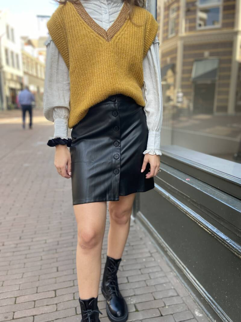 RBLZ leather skirt