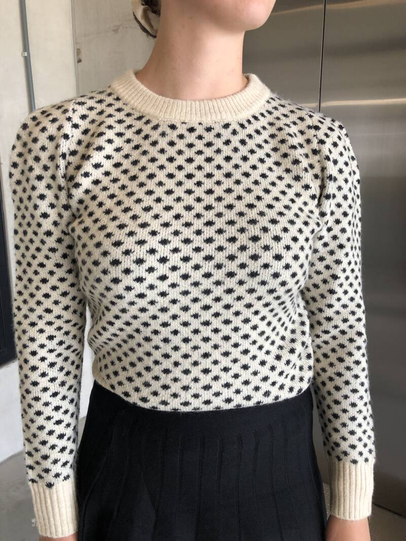 Knit black and creme