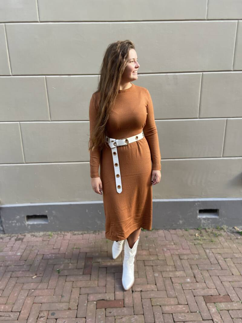 Rust taille dress long