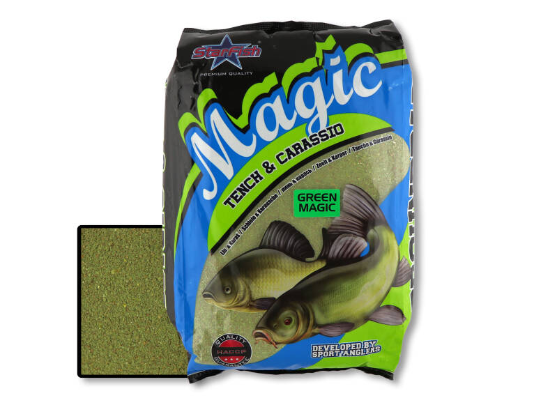 5 st. Starfish Magic - green 2,5 kg.