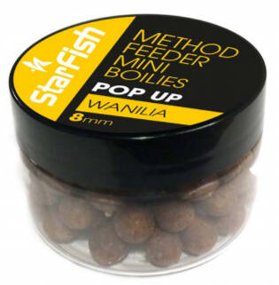 Starfish Mini Pop Up Boilies 8mm - banana 60 ml.