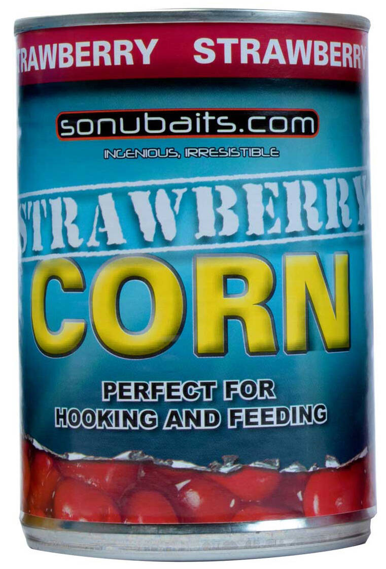 12 st. Sonubaits Corn - strawberry 400 gr.