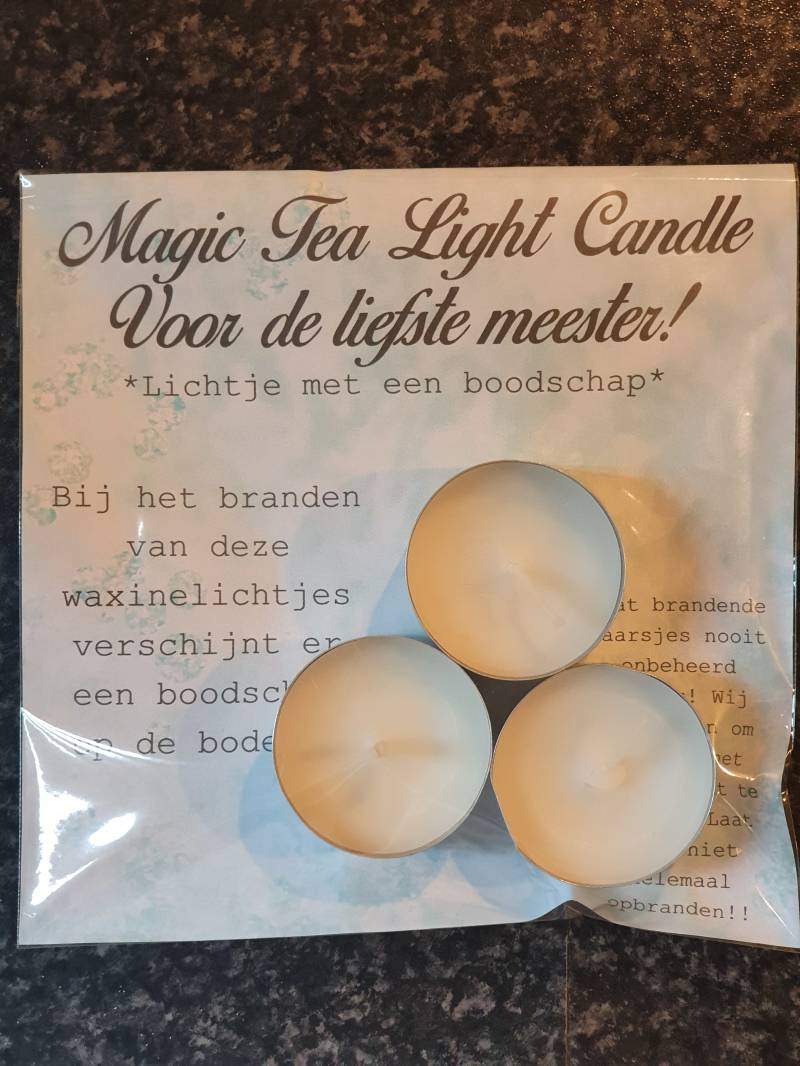 Magic Tea Light Candle voor de liefste meester
