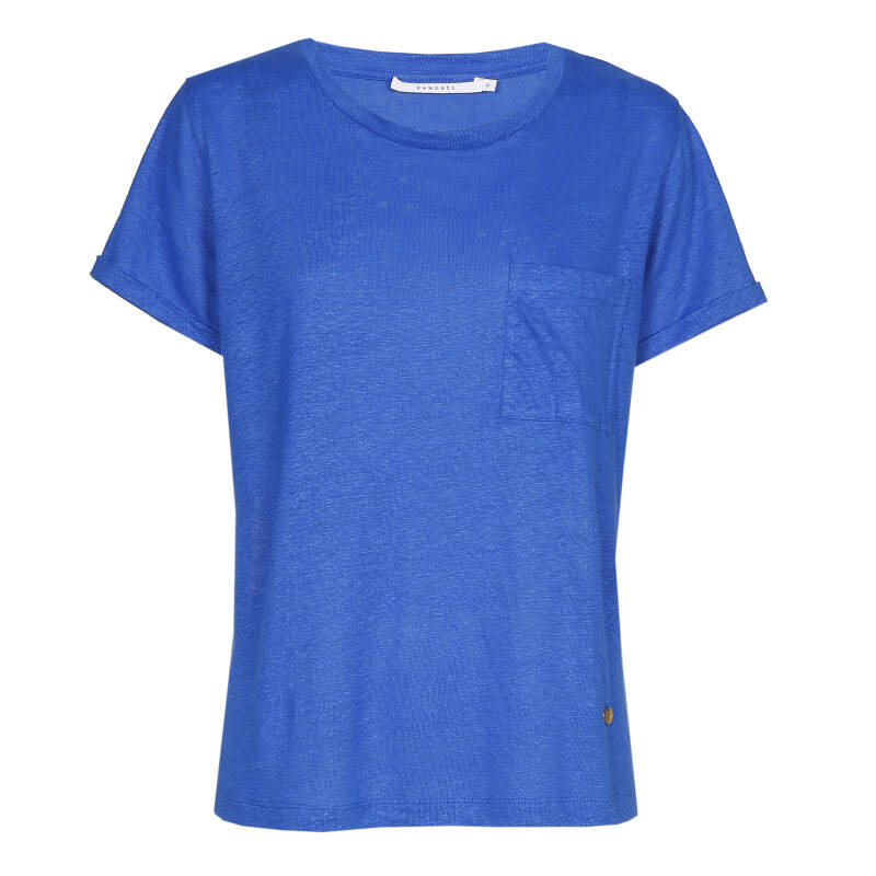 Xandres Gold linnen T.Shirt X-TAMZIN blue- 004807