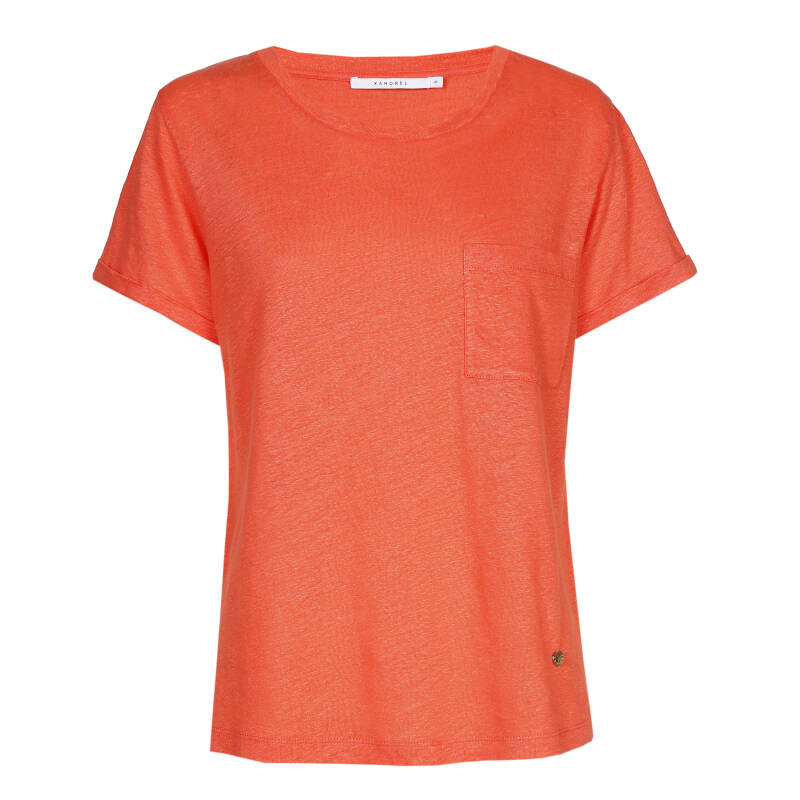 Xandres Gold linnen T.Shirt X-TAMZIN coral sea- 004809