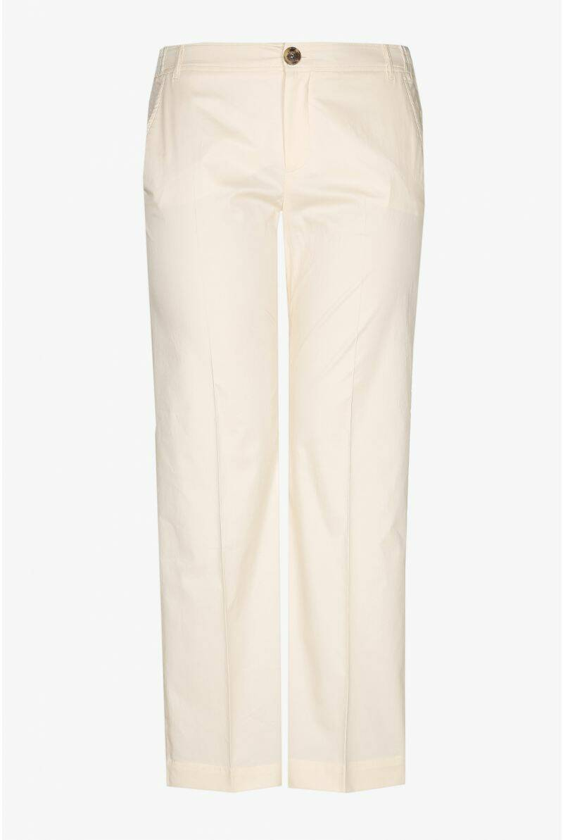 Xandres Gold lange straight fit broek X-PEA licht beige-  004774