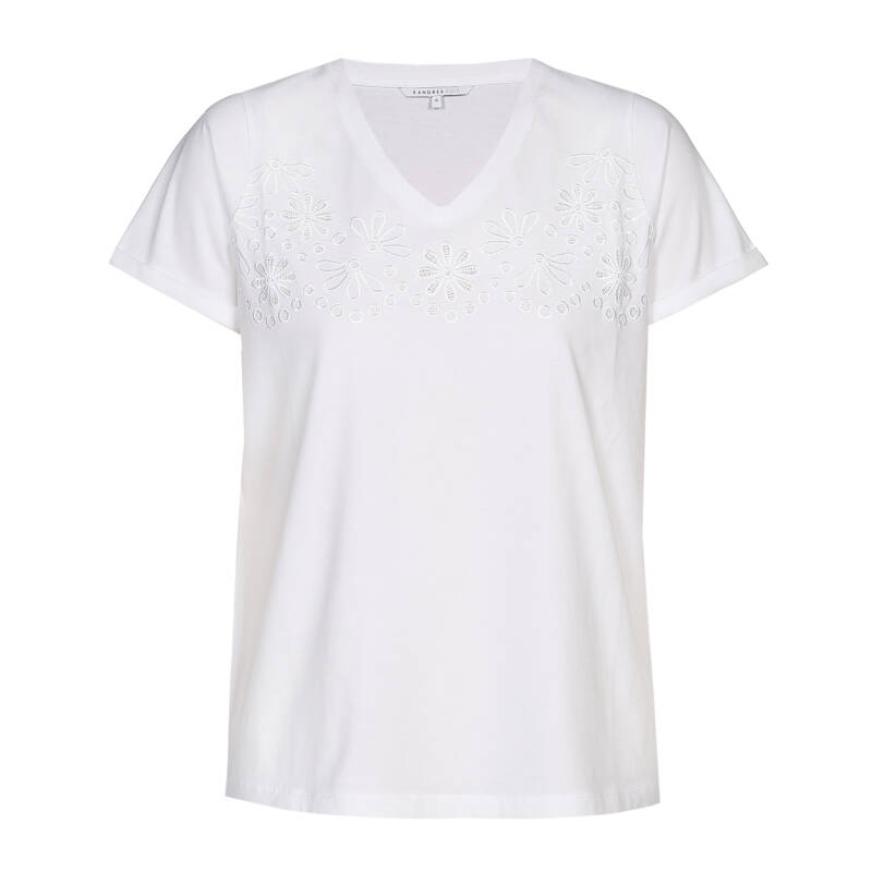 Xandres Gold t-shirt X-AALISAR wit- 003237