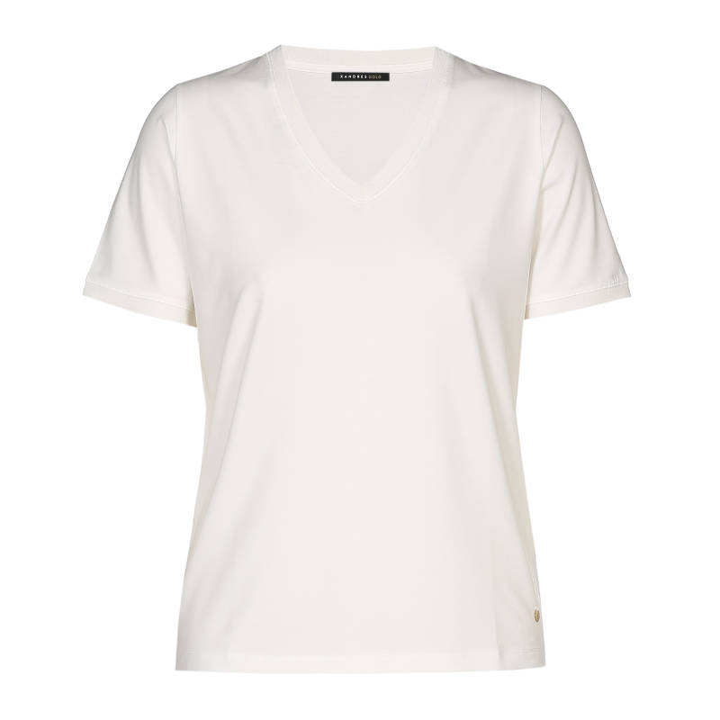 Xandres Gold T.Shirt X-FLOY/ESSENTIALS off white - 003987