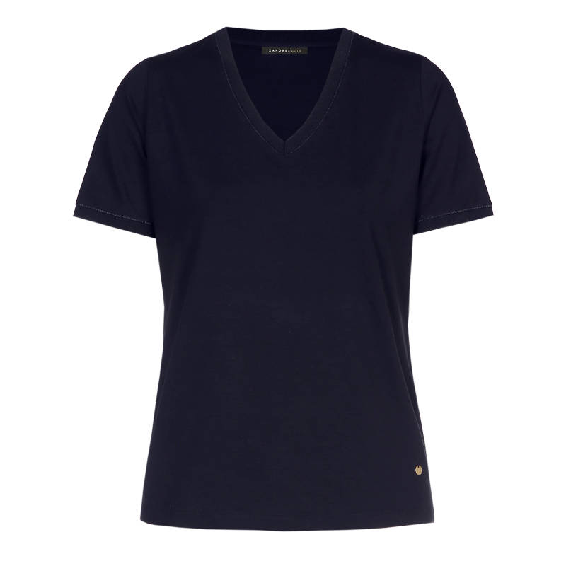 Xandres Gold T.Shirt X-FLOY/ESSENTIALS navy - 003988
